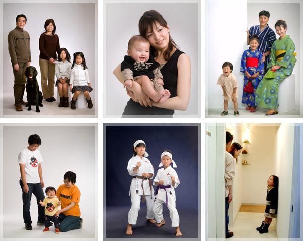 フォトスタジオ 写真館 家族写真 記念写真